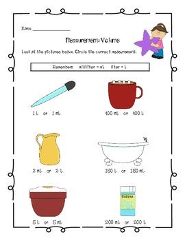 Measurement Common Core Math Assessments