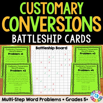 Customary Measurement Conversions Activity: Multi-Step Word Problems (5.MD.1)