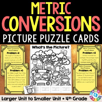 Metric Measurement Conversion: Metric Conversions Word Problems {4.MD.1, 4.MD.2}