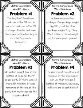 metric conversion word problems pdf