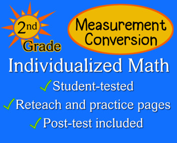 Measurement Conversion, 2nd grade - Individualized Math - worksheets