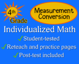 Measurement Conversion, 4th grade - worksheets - Individualized Math