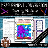 Measurement Conversion Coloring Activity (Capacity, Length & Weight)
