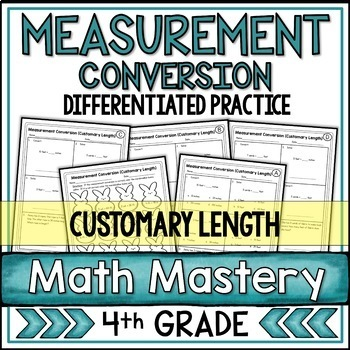 Measurement Conversion Worksheets Customary Length By Shelly Rees