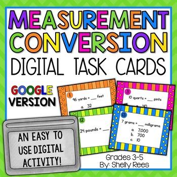 Measurement Conversion - Digital Task Cards Google Version