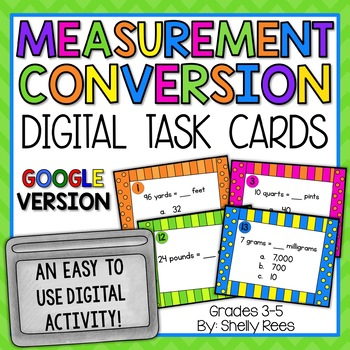 Measurement Conversion - Digital Task Cards Google Version