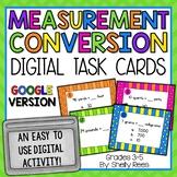 Measurement Conversion Digital Task Cards Google Version
