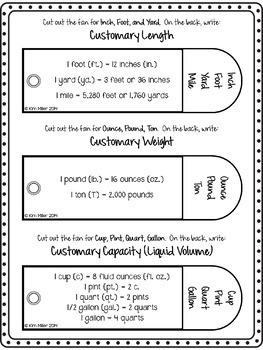 Measurement Conversion Fans {FREE}