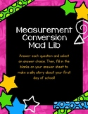 Measurement Conversion Mad Lib