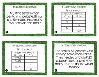 Measurement Conversion Task Cards for 5th Grade