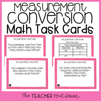 Measurement Conversion Task Cards for 4th Grade