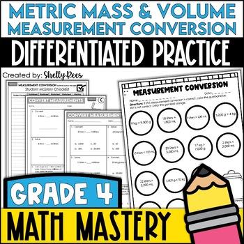 Measurement Worksheets - Metric Mass & Volume