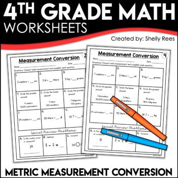 Measurement Conversion (Metric) Worksheets