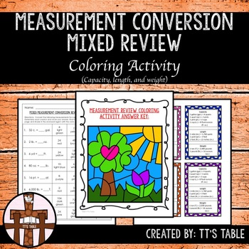 Measurement Conversion Mixed Review Coloring Activity