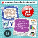 Measurement BUNDLE Converting Customary and Metric Posters and Practice