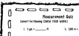 Measurement Conversion Quiz 4.MD.1