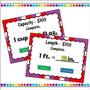 Measurement Conversion Review Powerpoint Game