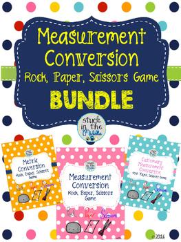 Measurement Conversion Rock, Paper, Scissors Game Bundle