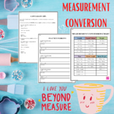 Measurement Conversion Chart, Tips, and Worksheet