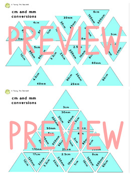 Measurement Conversion Tarsia Puzzles: MM, CM, and Meters