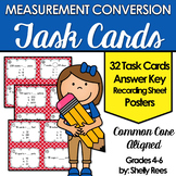 Measurement Conversion Task Card and Poster Set - Customary & Metric