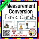 Measurement Conversion Task Cards w/ QR Codes Length Time Weight Capacity