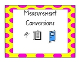 Measurement Conversion Task Cards without QR codes