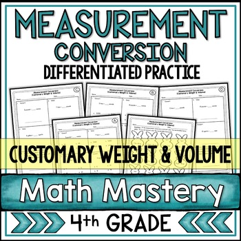 Measurement Worksheets - Weight and Volume