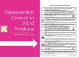 Measurement Conversion Word Problems & Task Cards - Fun!