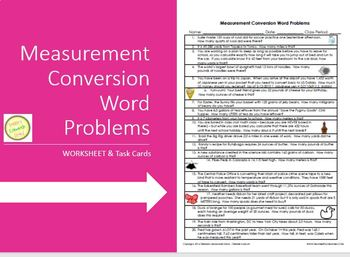Measurement Conversion Word Problems & Task Cards - Fun!