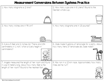 Measurement Conversion between Systems Foldable