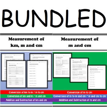 Measurement: Conversion of Kilometers, Meters and Centimeters Bundle