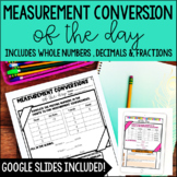 Measurement Conversion of the Day  *with Google Slides™ Math Distance Learning