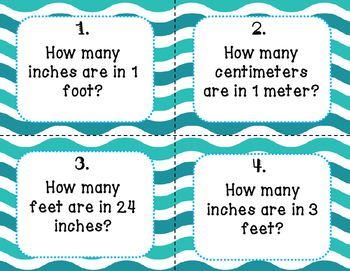 Measurement Conversions (inches and feet, centimeters and meters)