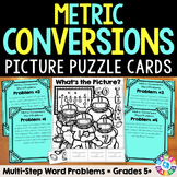 Metric Measurement Conversions: Metric Conversions Word Problems {5.MD.1}