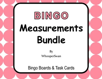 Measurement Conversions - BINGO and Task Cards Bundle