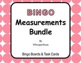 Measurement Conversions - BINGO and Task Cards Bundle