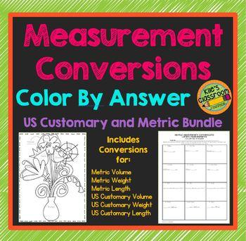Measurement Conversions Color By Answer Bundle