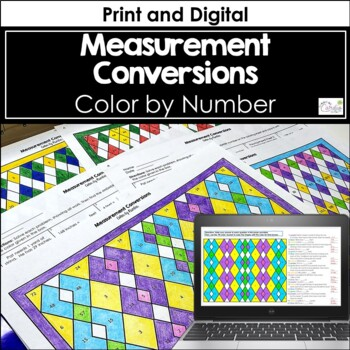 Measurement Conversions Color by Number (Holiday)