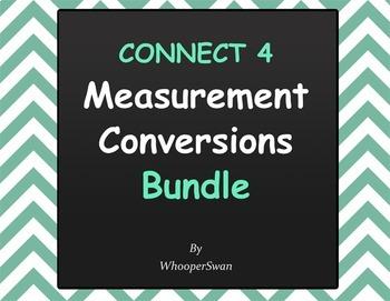 Measurement Conversions - Connect 4 Game Bundle