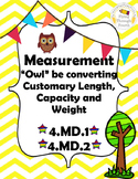 Measurement Conversions - Customary, Metric, Weight, Capac