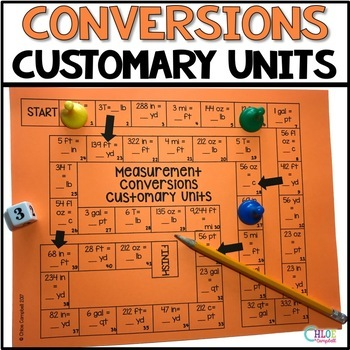 Measurement Conversions Customary Units Board Game