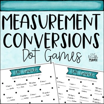 Measurement Conversions Dot Games