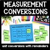 Measurement Conversions Game (Fractions & Decimals), 5th Grade Measurement Sort
