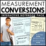 Measurement Conversions Interactive Notebook Set |