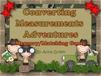Measurement Conversions Matching/Memory Game