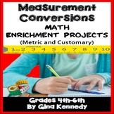 Measurement Conversions Math Enrichment Projects for Upper