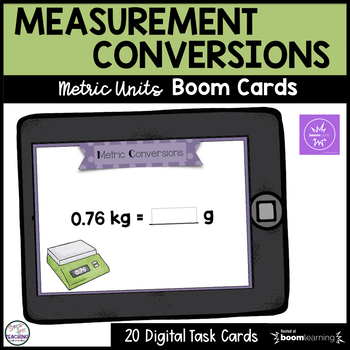 Measurement Conversions Metric System Boom Cards