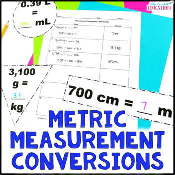 Measurement Conversions, Metric Units Differentiated Around the Room Activity