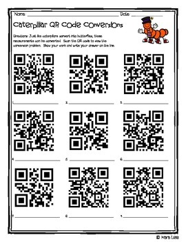 Measurement Conversions Practice - QR Code - Set of 32 Problems